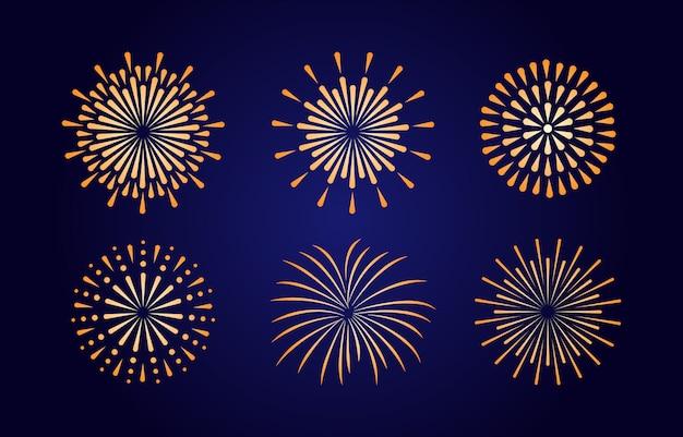 Firework blue background