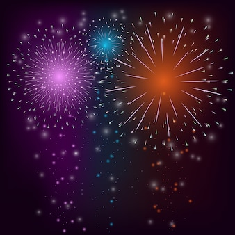 Firework colorful background