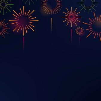 Firework explosions background design vector
