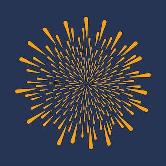 Фейерверк празднование праздничного взрыва разрывается юбилейный салют, изолированные на темном фоне
