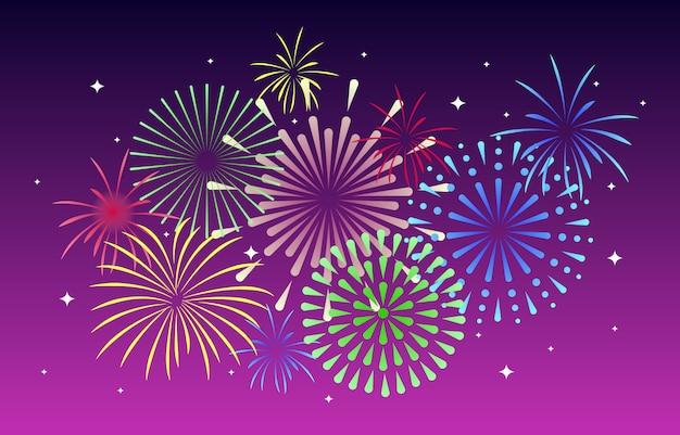 Firework purple background