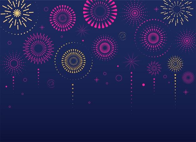 Фейерверк и праздник фон, победитель, победный плакат, баннер