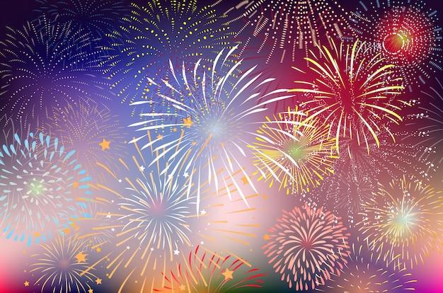 Фейерверки и счастливый новый год
