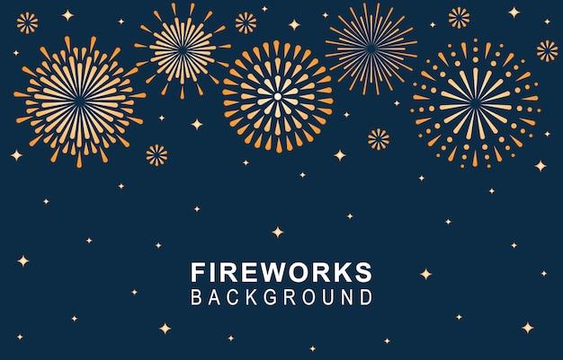 Fireworks blue background