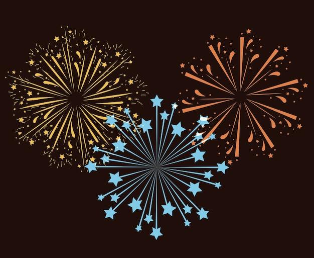 Fireworks bursting background
