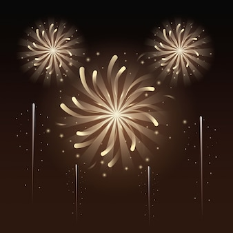Fireworks and celebration illustration