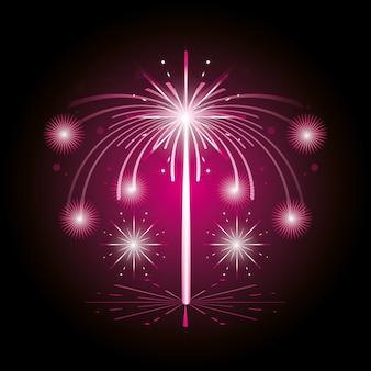 Fireworks celebration scene background