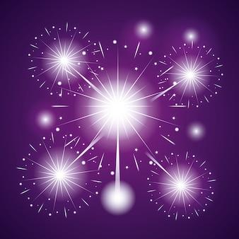 花火のお祝いシーンの背景
