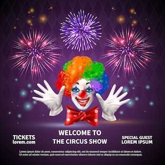 Fireworks circus show