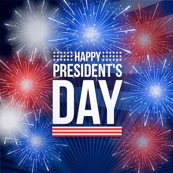 大統領の日の概念の花火