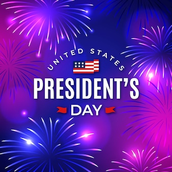 夜の大統領の日の花火