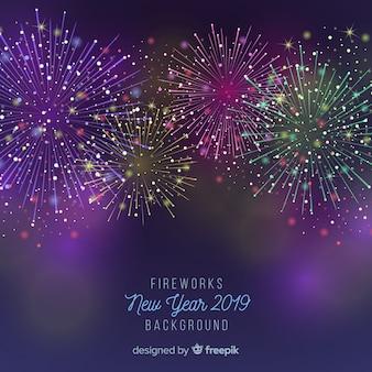 花火、新年、2019、背景