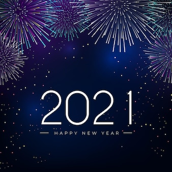 Fireworks new year 2021 background