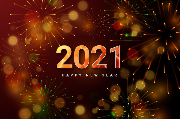 花火新年2021背景