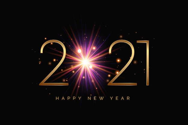 Fireworks new year 2021 background