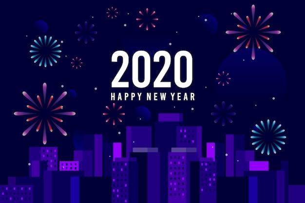 Fireworks new year background