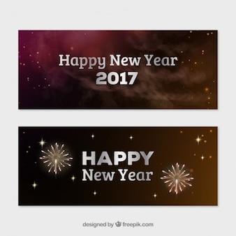 Fuochi d'artificio nuovi banner anno