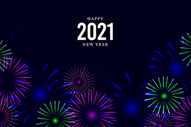 Fireworks for new year celebration background