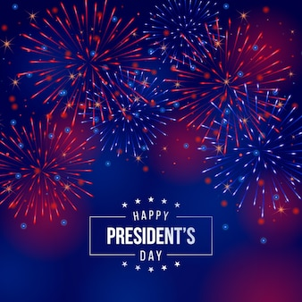 Fireworks president's day background