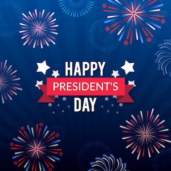 Fireworks for presidents day event