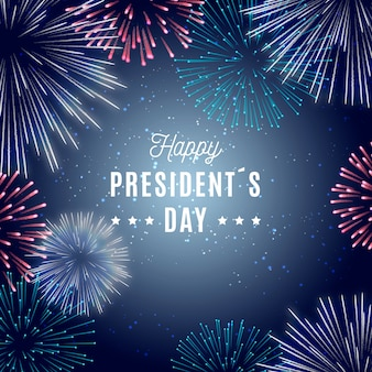Fireworks presidents day theme
