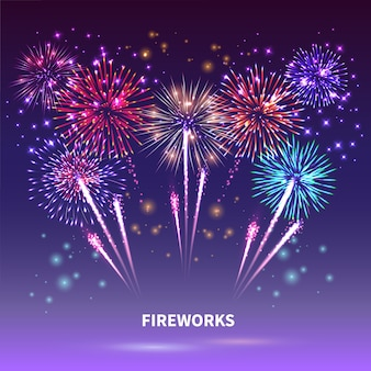 Fireworks show  composition