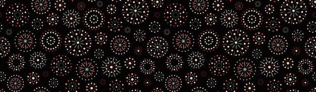 Fireworks vector seamless pattern sparkler texture design for festival holiday birthday christmas or