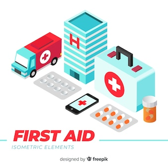 First aid background