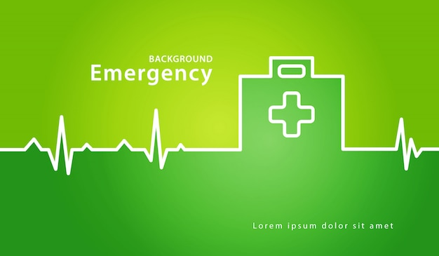 First aid box medical concept background
