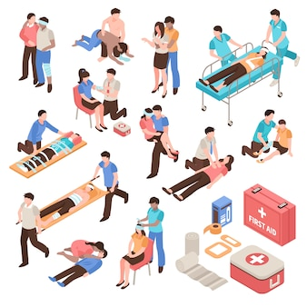 First aid isometric set