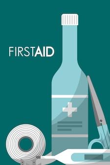 First aid kit medical health