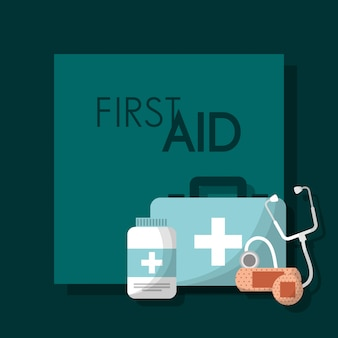 First aid kit medical health