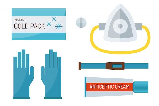 First aid symbols vector illustration.