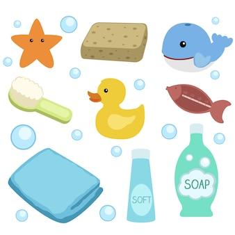 First bath baby clip art