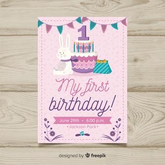 First birthday cake gifts invtation