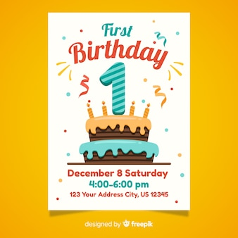 First birthday card