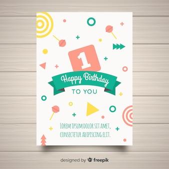 First birthday invitation shapes