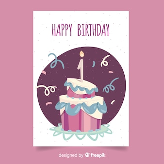 First birthday overloped cake greeting