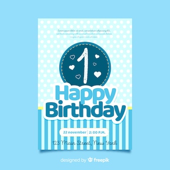 First birthday seamed circled card template