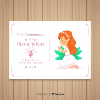 First communion invitation template