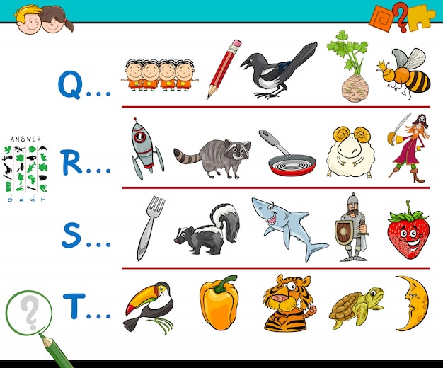 First letter educational game for kids