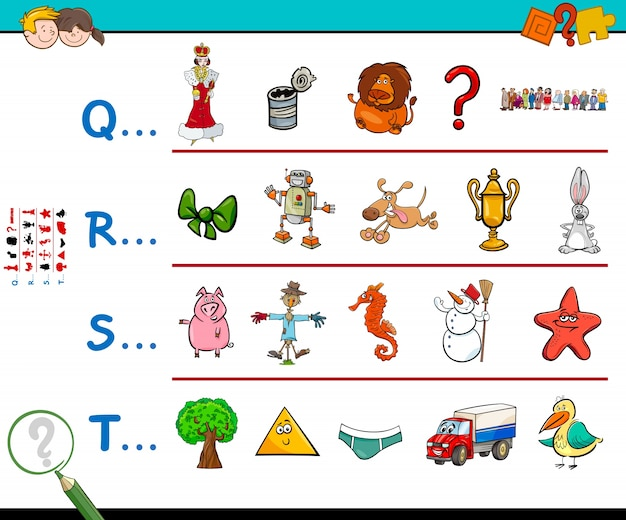First letter of a word educational worksheet