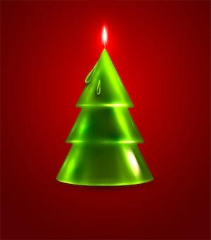火災抽象的なホットfirtreeクリスマス