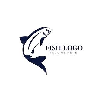 Шаблон логотипа дизайн абстрактный значок рыбы, творческий вектор символ рыболовного клуба или интернет-магазина.