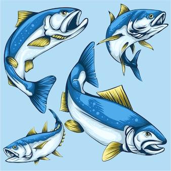 Пакет дизайна персонажей рыбы