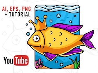 Fish drawing tutorial