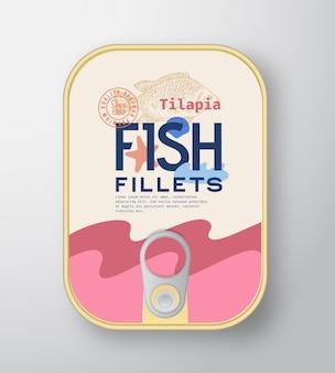 생선 필레 알루미늄 용기 포장 모형