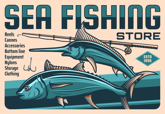 물고기, 어부로드 및 후크, 낚시 스포츠