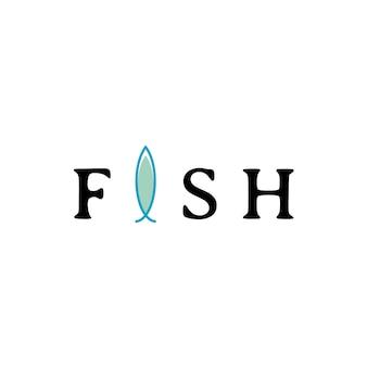 물고기 로고 디자인 템플릿입니다. 해산물 레스토랑 가게와 낚시 아이콘