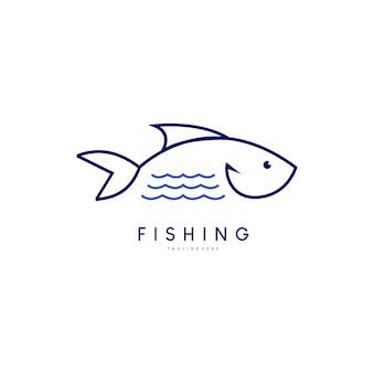 물고기 로고 아이콘 템플릿